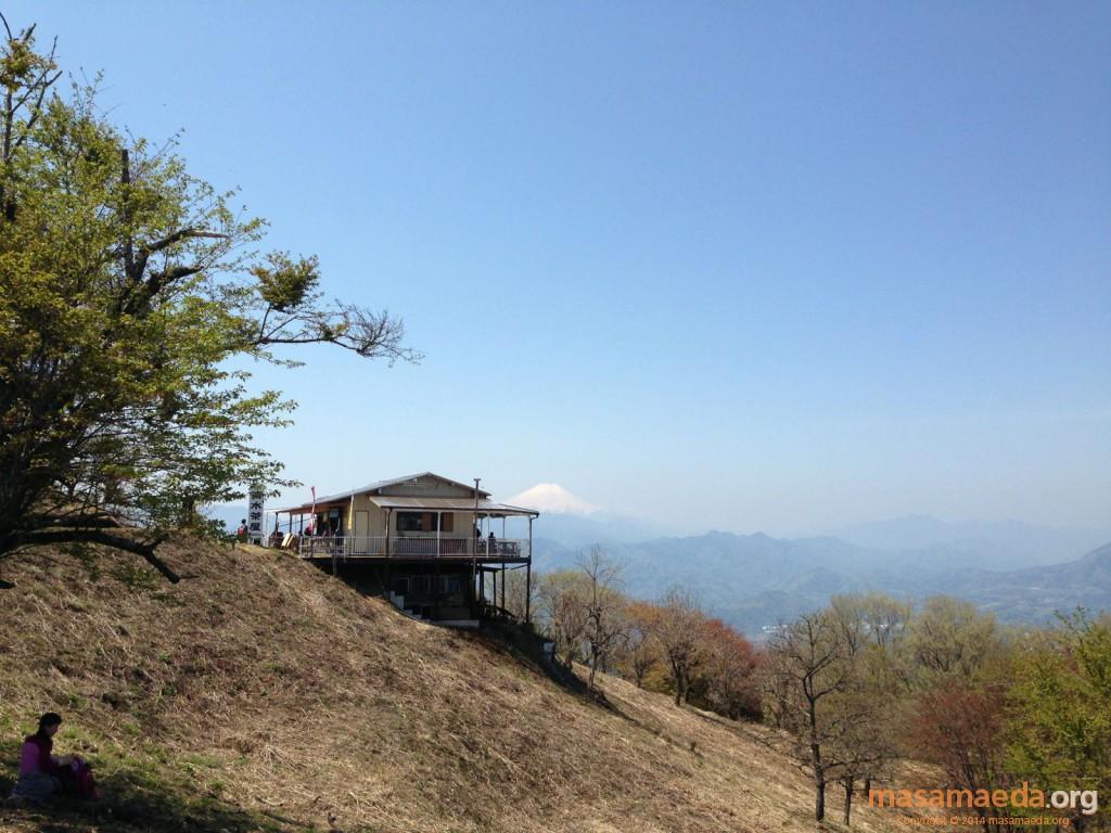 清水茶屋と富士山