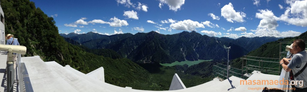 大観峰から後立山連峰と黒部湖