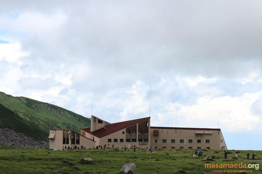スタート地点のホテル立山