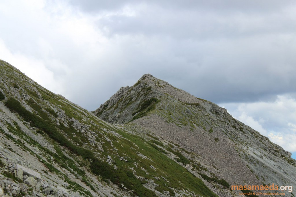 黒部湖方面に伸びる稜線