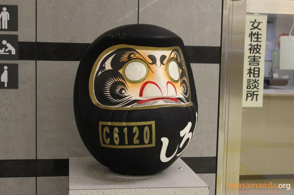 高崎駅の機関車ダルマ