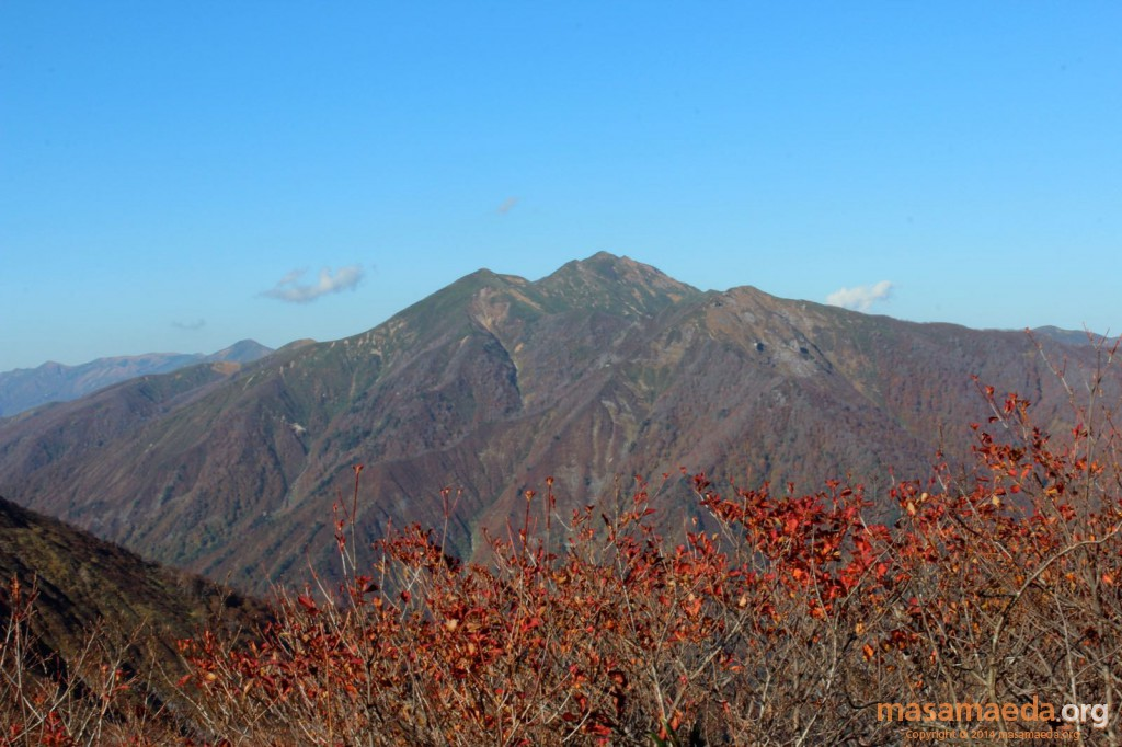 紅葉と「山」
