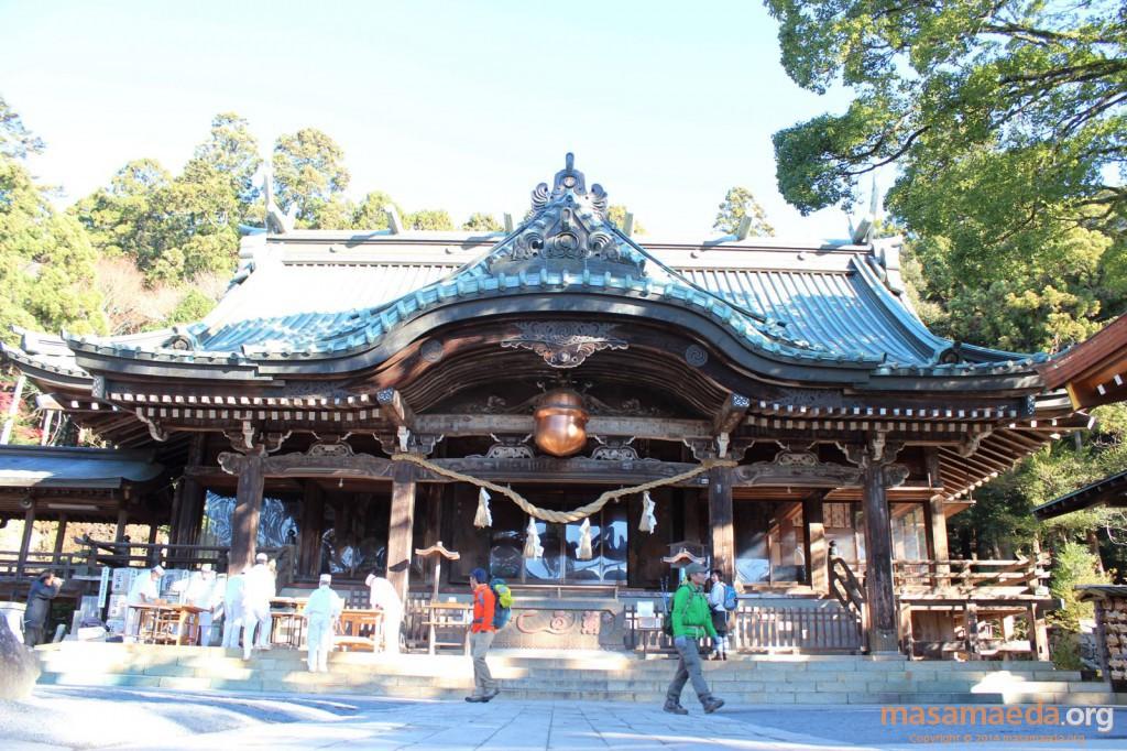 筑波山神社の拝殿