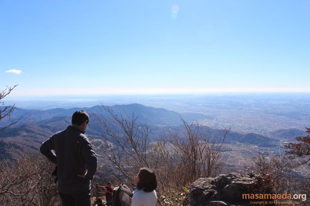 あと少しで男体山の山頂の展望地