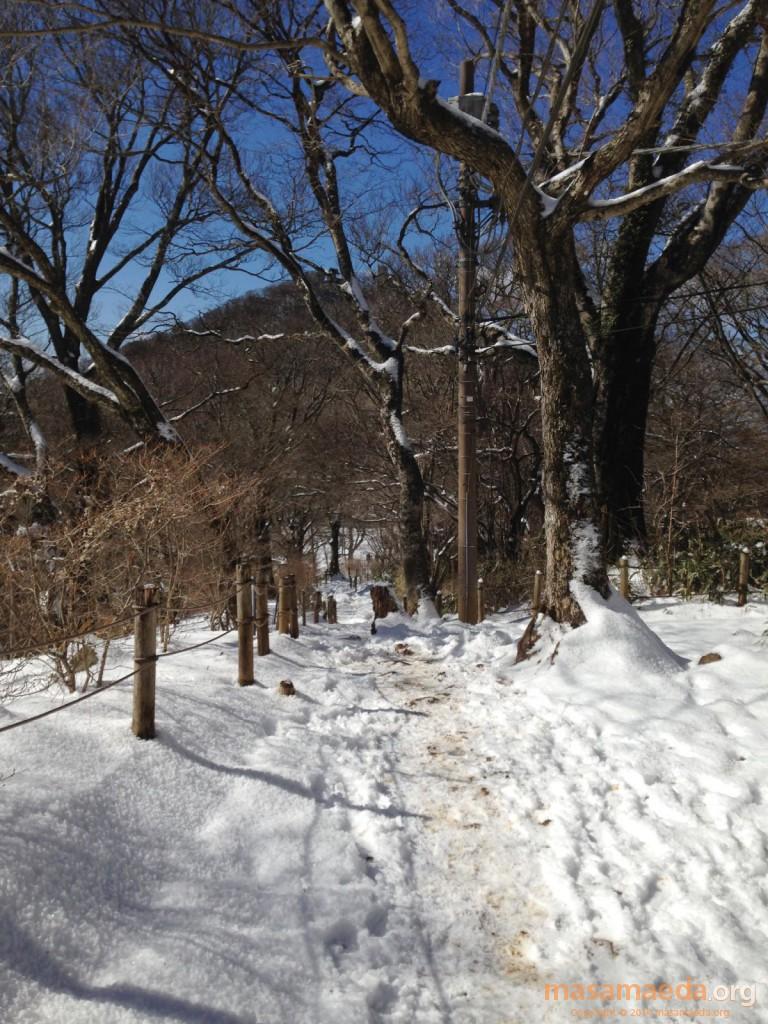 男体山と雪景色