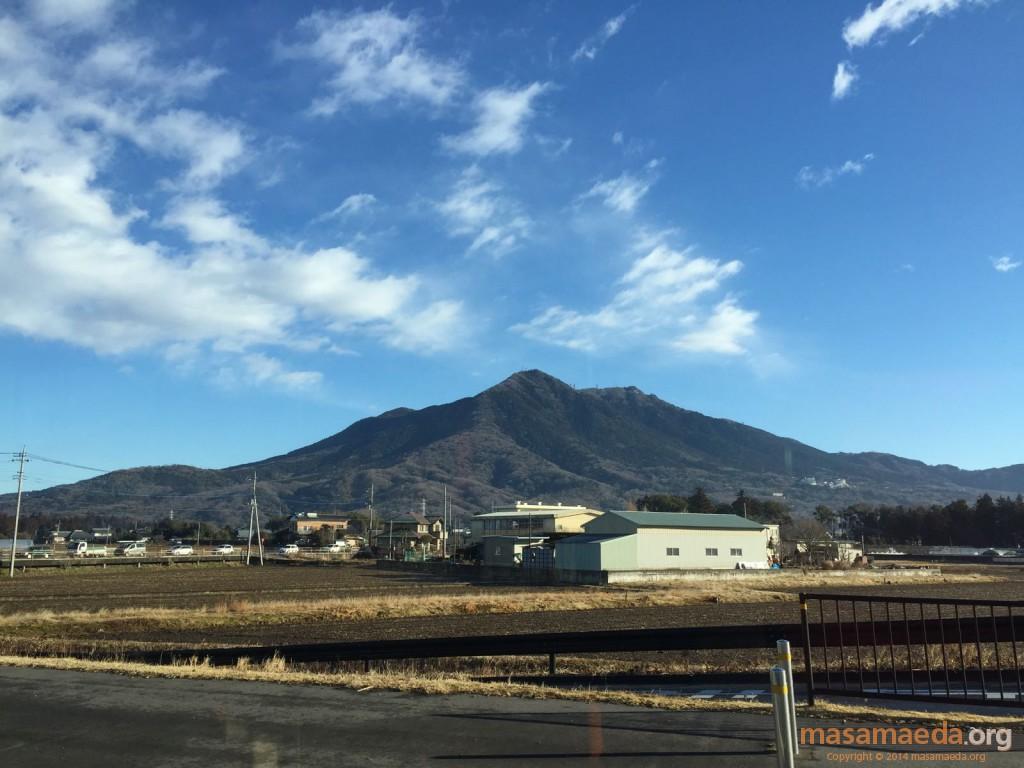 前回と変わりなく見える筑波山