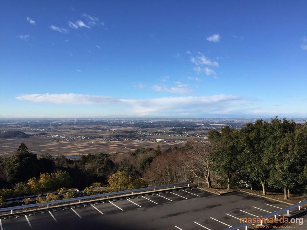 筑波山神社バス停からの眺望