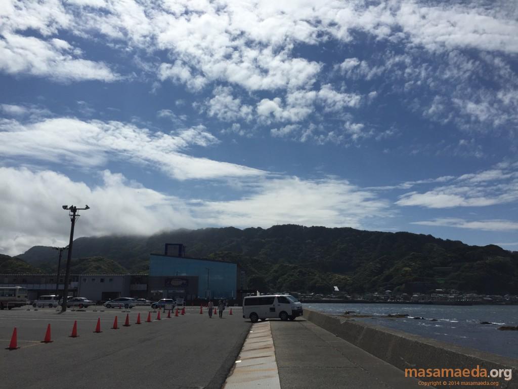 雲が晴れていく鋸山